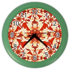 Digital Decorative Ornament Artwork Wall Clock (Color)