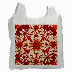 Digital Decorative Ornament Artwork White Reusable Bag (One Side)
