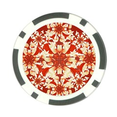 Digital Decorative Ornament Artwork Poker Chip (10 Pack)