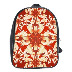 Digital Decorative Ornament Artwork School Bag (Large)