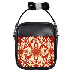 Digital Decorative Ornament Artwork Girl s Sling Bag