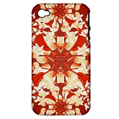 Digital Decorative Ornament Artwork Apple iPhone 4/4S Hardshell Case (PC+Silicone)