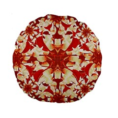 Digital Decorative Ornament Artwork 15  Premium Round Cushion