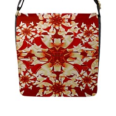 Digital Decorative Ornament Artwork Flap Closure Messenger Bag (Large)