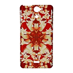 Digital Decorative Ornament Artwork Sony Xperia V Hardshell Case