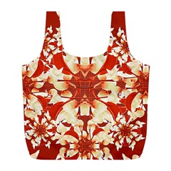 Digital Decorative Ornament Artwork Reusable Bag (l)