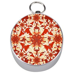 Digital Decorative Ornament Artwork Silver Compass