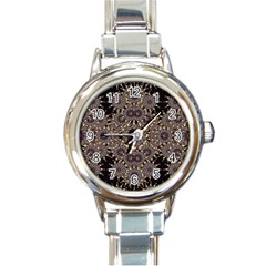 Luxury Ornament Refined Artwork Round Italian Charm Watch