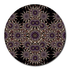 Luxury Ornament Refined Artwork 8  Mouse Pad (Round)