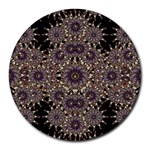 Luxury Ornament Refined Artwork 8  Mouse Pad (Round) Front