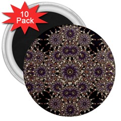 Luxury Ornament Refined Artwork 3  Button Magnet (10 pack)