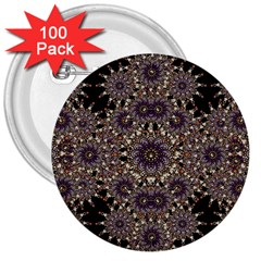 Luxury Ornament Refined Artwork 3  Button (100 pack)