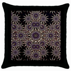 Luxury Ornament Refined Artwork Black Throw Pillow Case