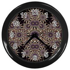 Luxury Ornament Refined Artwork Wall Clock (Black)