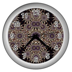 Luxury Ornament Refined Artwork Wall Clock (Silver)