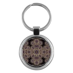 Luxury Ornament Refined Artwork Key Chain (Round)