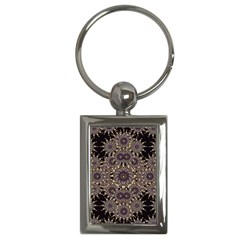 Luxury Ornament Refined Artwork Key Chain (Rectangle)