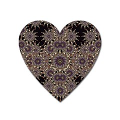 Luxury Ornament Refined Artwork Magnet (Heart)