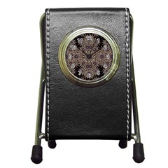 Luxury Ornament Refined Artwork Stationery Holder Clock