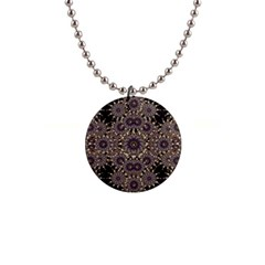 Luxury Ornament Refined Artwork Button Necklace