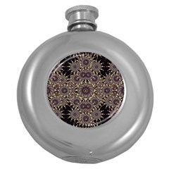 Luxury Ornament Refined Artwork Hip Flask (Round)