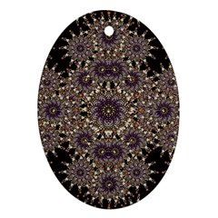 Luxury Ornament Refined Artwork Oval Ornament (Two Sides)