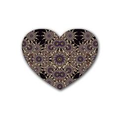 Luxury Ornament Refined Artwork Drink Coasters (heart)