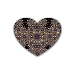 Luxury Ornament Refined Artwork Drink Coasters 4 Pack (Heart)