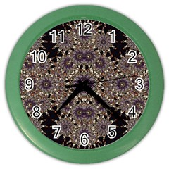 Luxury Ornament Refined Artwork Wall Clock (Color)