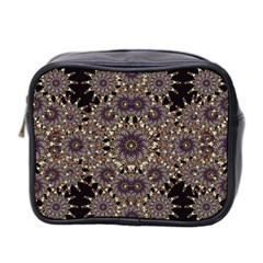 Luxury Ornament Refined Artwork Mini Travel Toiletry Bag (Two Sides)