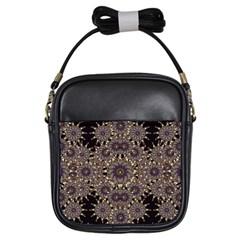 Luxury Ornament Refined Artwork Girl s Sling Bag