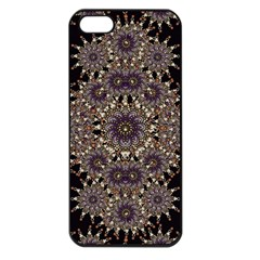 Luxury Ornament Refined Artwork Apple iPhone 5 Seamless Case (Black)