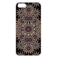 Luxury Ornament Refined Artwork Apple iPhone 5 Seamless Case (White)