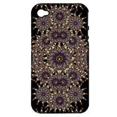 Luxury Ornament Refined Artwork Apple Iphone 4/4s Hardshell Case (pc+silicone)