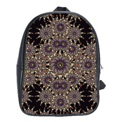 Luxury Ornament Refined Artwork School Bag (XL)