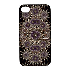 Luxury Ornament Refined Artwork Apple iPhone 4/4S Hardshell Case with Stand
