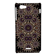 Luxury Ornament Refined Artwork Sony Xperia J Hardshell Case