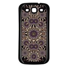 Luxury Ornament Refined Artwork Samsung Galaxy S3 Back Case (Black)