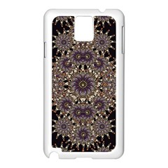 Luxury Ornament Refined Artwork Samsung Galaxy Note 3 N9005 Case (White)