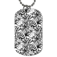 Flower Lace Dog Tag (one Sided)