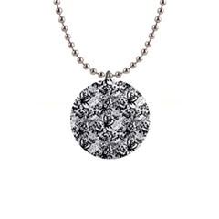 Flower Lace Button Necklace