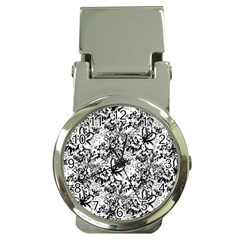 Flower Lace Money Clip With Watch
