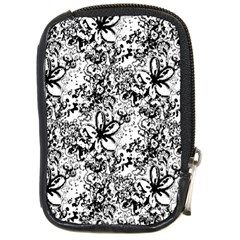 Flower Lace Compact Camera Leather Case