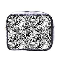 Flower Lace Mini Travel Toiletry Bag (one Side)