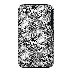 Flower Lace Apple Iphone 3g/3gs Hardshell Case (pc+silicone)