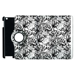 Flower Lace Apple Ipad 2 Flip 360 Case
