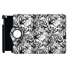 Flower Lace Apple Ipad 3/4 Flip 360 Case
