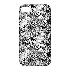 Flower Lace Apple Iphone 4/4s Hardshell Case With Stand