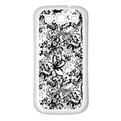 Flower Lace Samsung Galaxy S3 Back Case (White)
