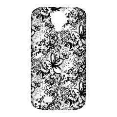 Flower Lace Samsung Galaxy S4 Classic Hardshell Case (PC+Silicone)